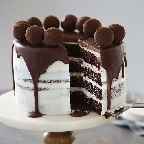 Decoration Of Chocolate Truffle Cake : Truffle-Topped Chocolate Cake Recipe Wilton