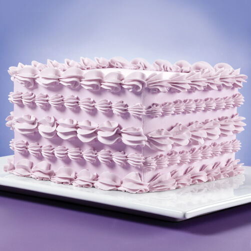 Surrounded By Shells Square Cake