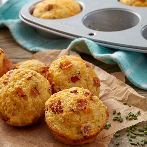 Bacon, Cheddar, and Chive Corn Muffins