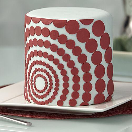 Marsala Cake With Geometric Shapes