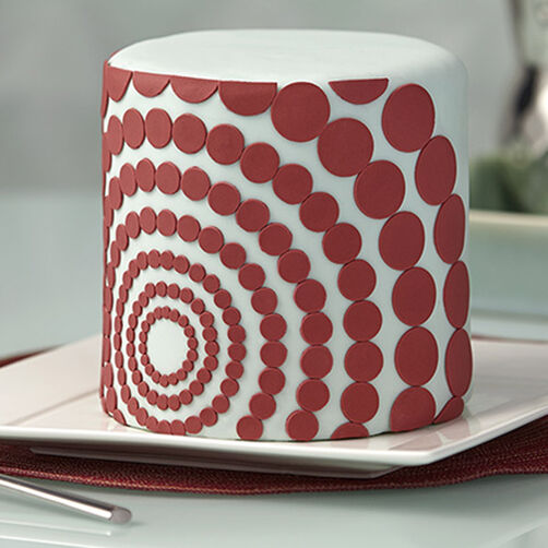 Marsala Cake With Geometric Shapes Wilton