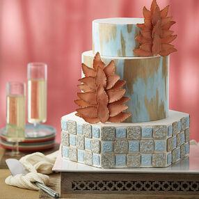 Metallic Painted Fondant Cake