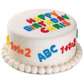 A B C's  and 1 2 3's cake