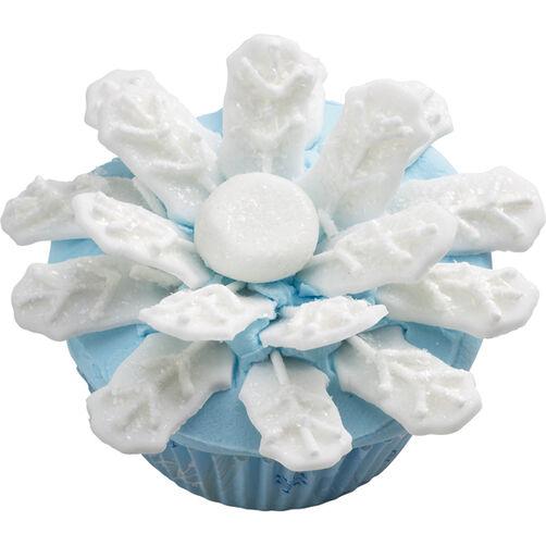 Glistening Snowflake Cupcake