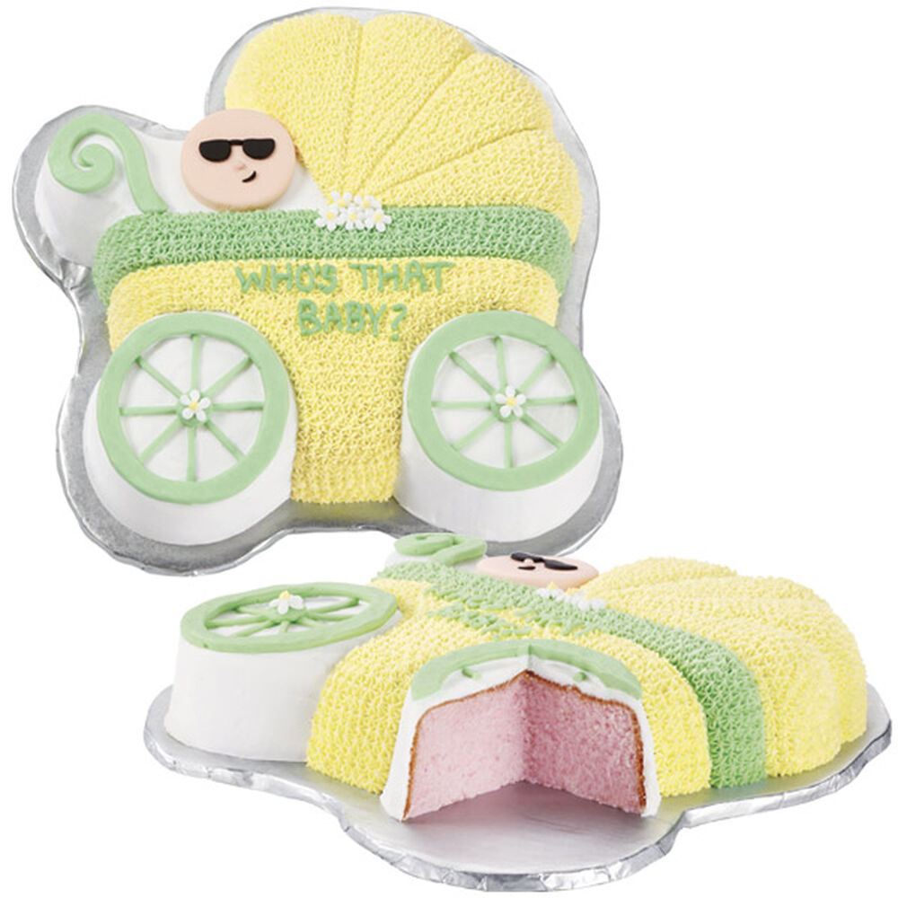 Cake Decorating Baby Carriage : Baby Reveal Buggy Cake Wilton