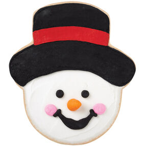 Black Top Hat Snowman Cookies