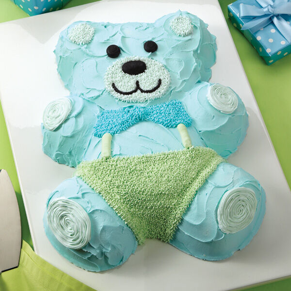 Good time teddy bear cake wilton - Wilton baby shower cake toppers ...