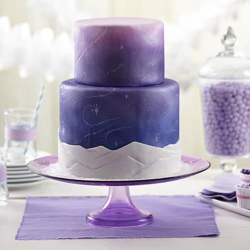 Snow Swirls Fondant Cake