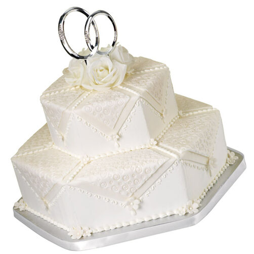 Double Ring Wedding Cake