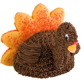 Mini Turkey Thanksgiving Cake