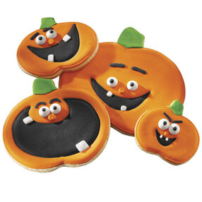 Pumpkin Grins Halloween Cookies