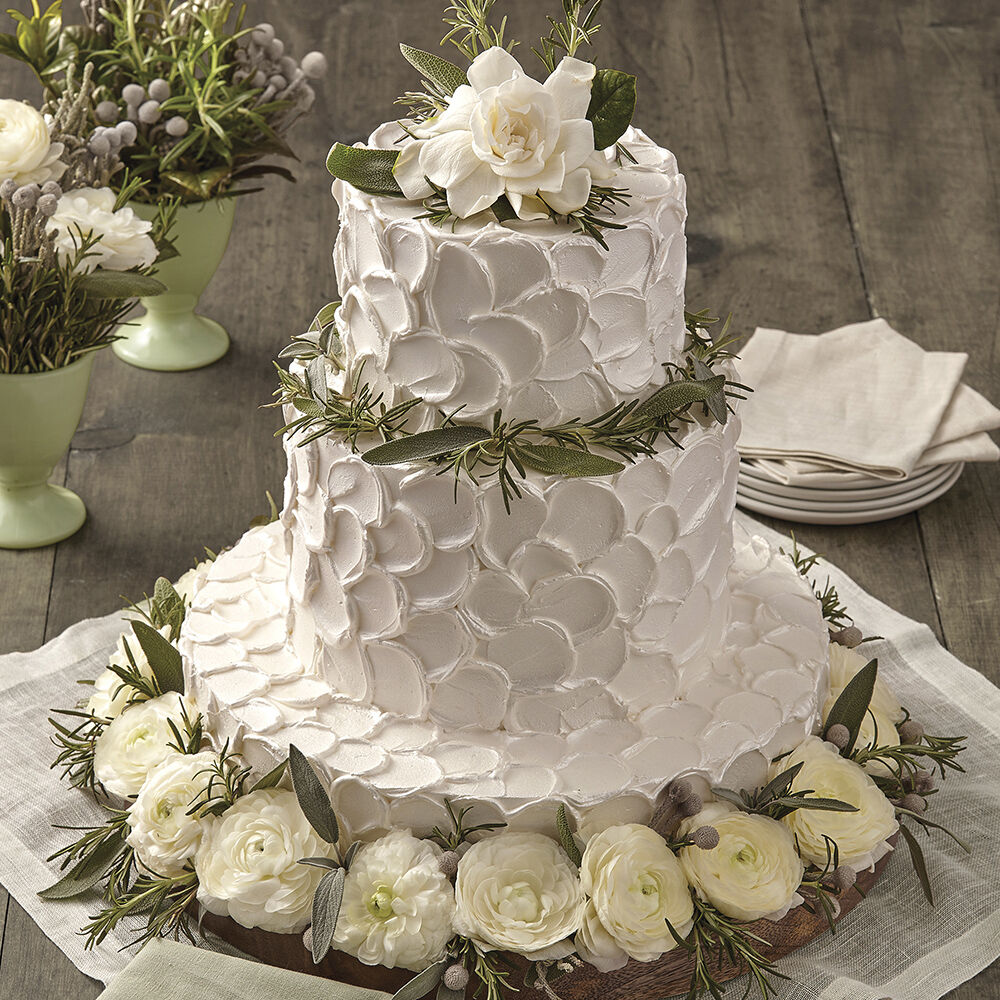 Cake Decorating Wedding Ideas: Nature's Beauty Herb Cake