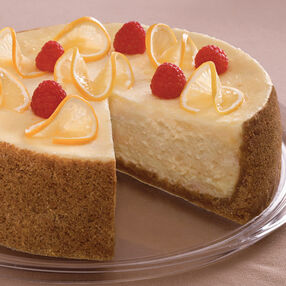 Lemon Cheesecake with Fresh Raspberries