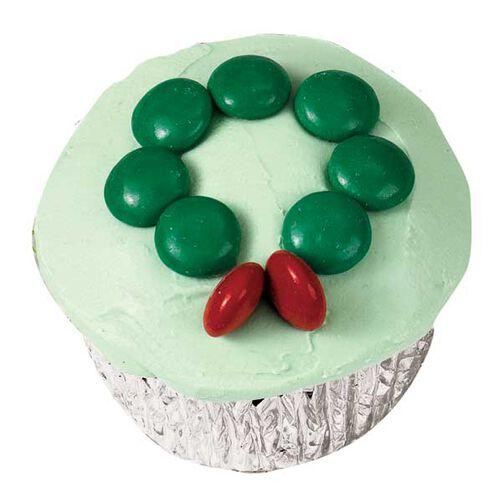 Holly Wreath Cupcakes