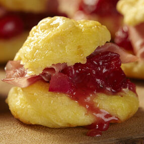 Cranberry & Black Pepper Gougeres