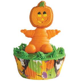 Pumpkin Man Cupcake