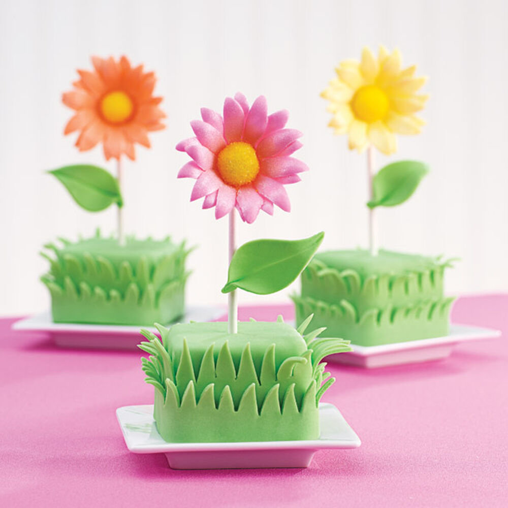 Sunbeam Blossoms Mini Cakes Wilton