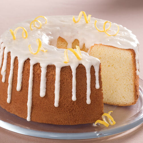 Glazed Lemon Chiffon Cake Recipe | Wilton