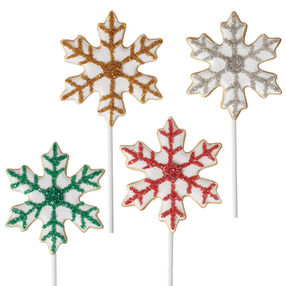 Snowflake Cookie Pops
