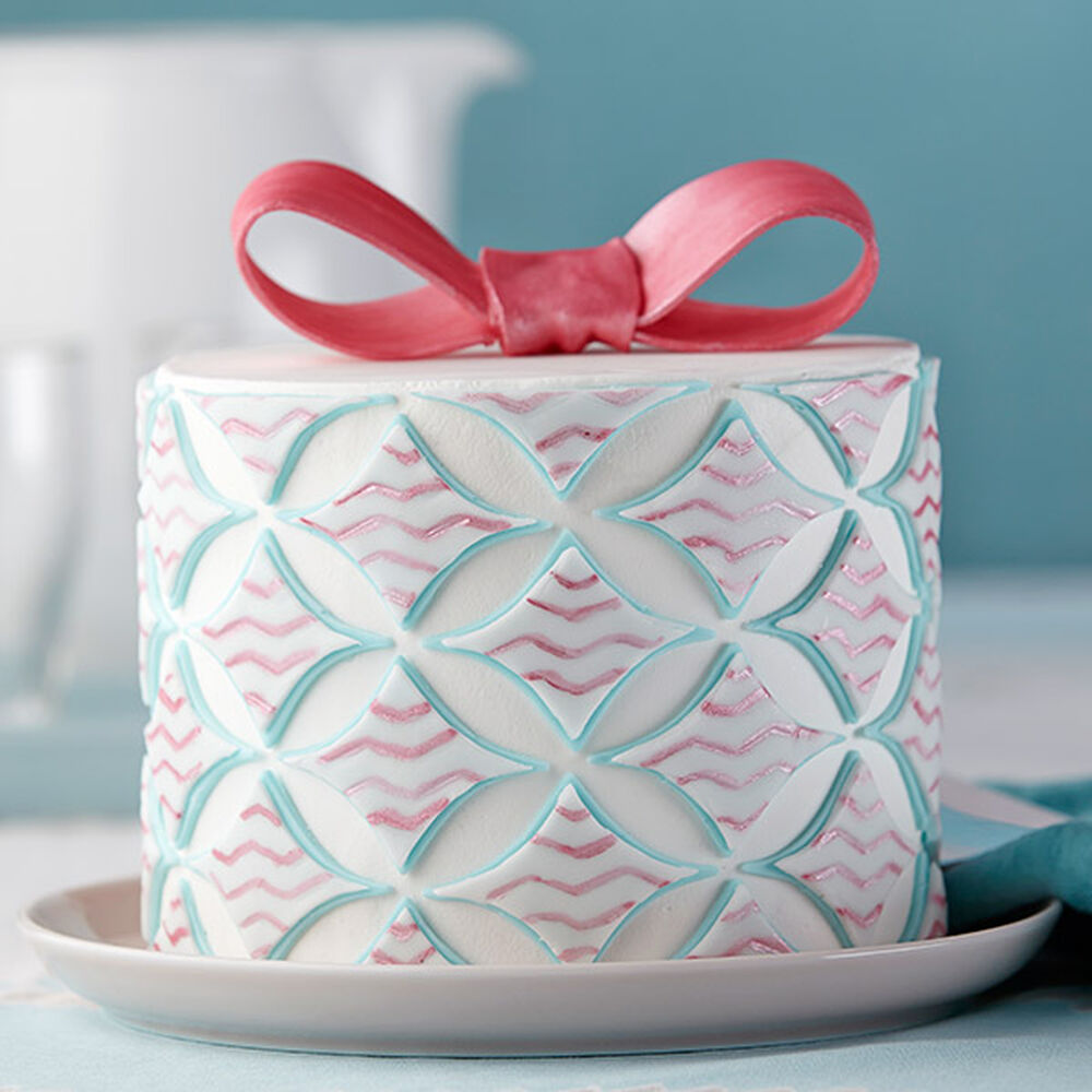 Diamond Designs Geometric Fondant Cake Wilton