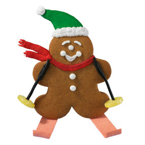 Gingerbread Skier Cookies