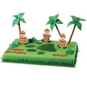 Safari Footprint Cake