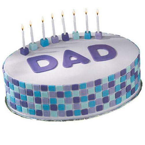 Birthday Cake Decorating Ideas Dad : Tile Style Cake Wilton