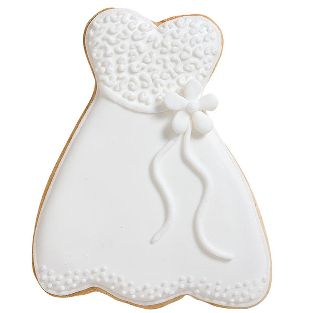 Wedding gown cookies wilton for Wedding dress cookie cutters