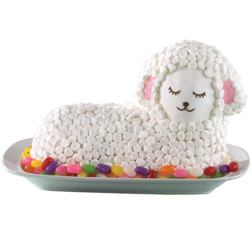 Fluffy Marshmallow Lamb Cake