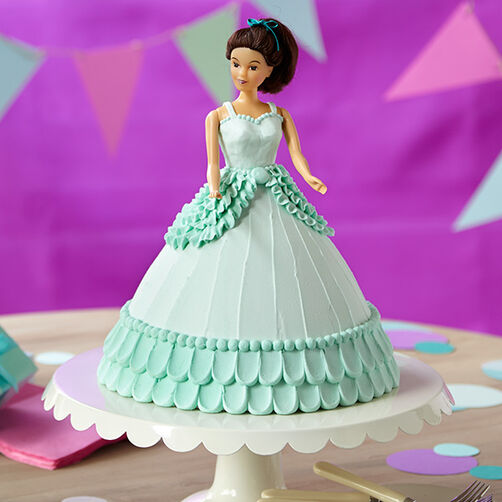 Blue Dress Doll Cake