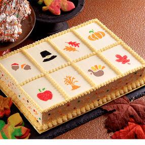 Autumn Spice Stencil Cake