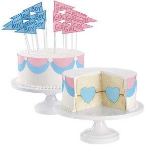 Flag Baby Gender Game Cake