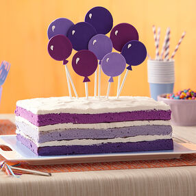 Purple Naked Birthday Cake