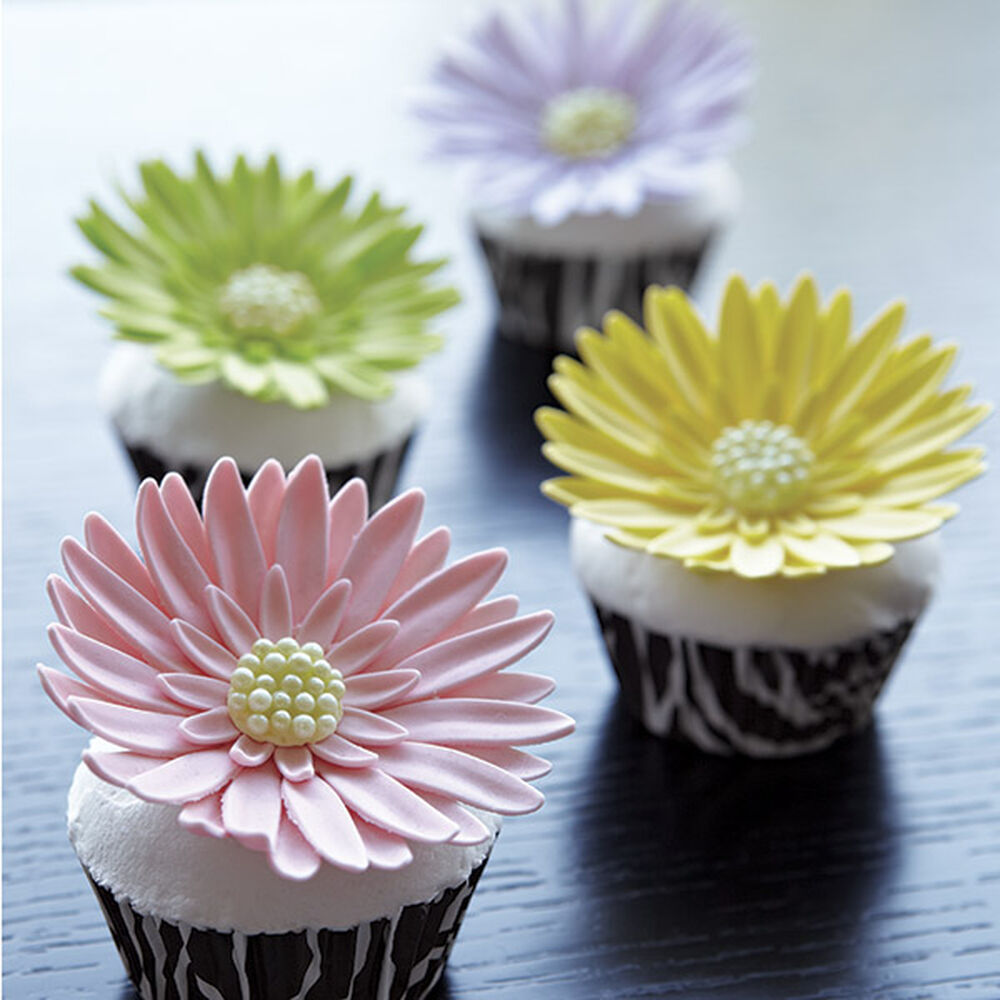 Wilton Cake Decorating Making Flowers : Gerbera Garden Cupcakes Wilton