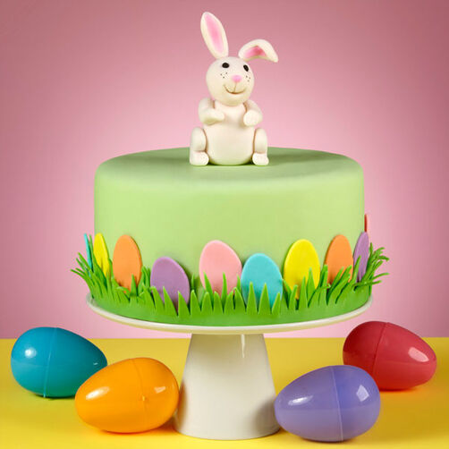 Wilton Easter Cake Decorating Ideas : Bunny Hop Along Easter Cake Wilton