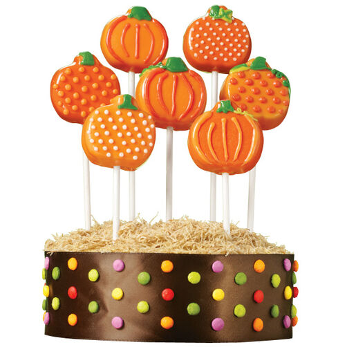 Pumpkin Patch Cake Pops Display