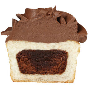 Add a Mini Brownie to the Center of a Cupcake