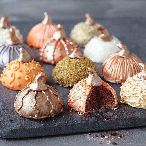 Bejeweled Pumpkin Mini Cakes Wilton