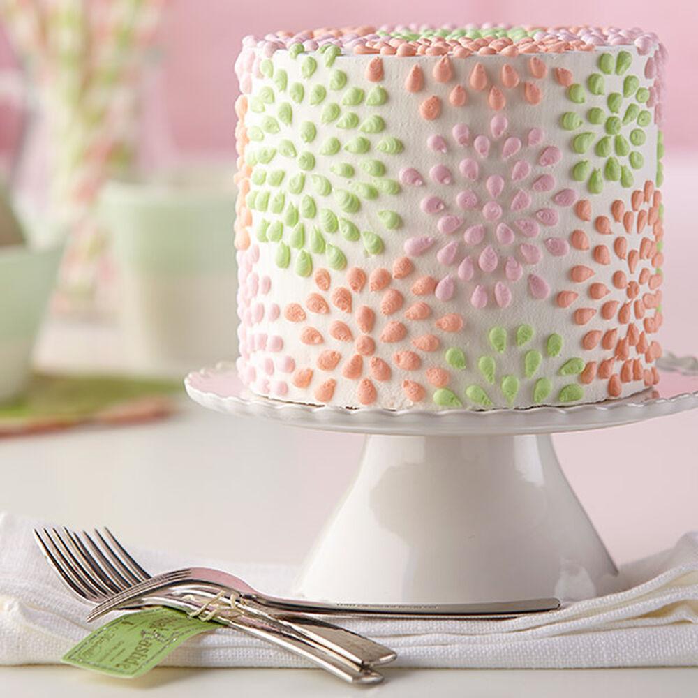 Polka Dotted Flower Cake Wilton