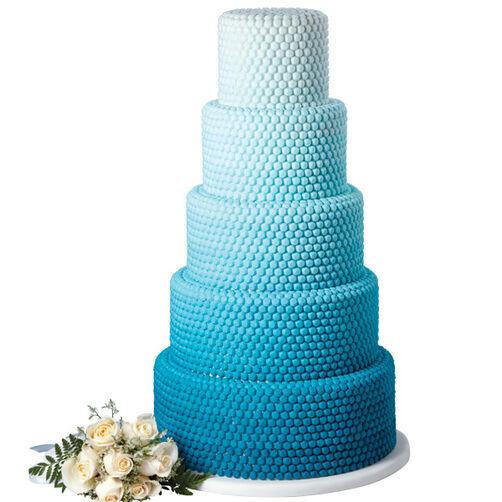 Ombré Blue Gem Cake