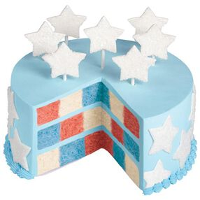 Red, White & Blue Checkerboard Cake