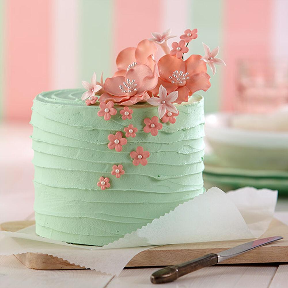 Sugar Paste Cake Decorating Pink Blossom Bouquet Cake Wilton