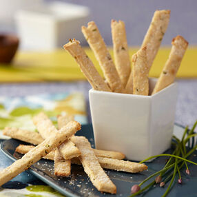 Goat Cheese & Chive Straws