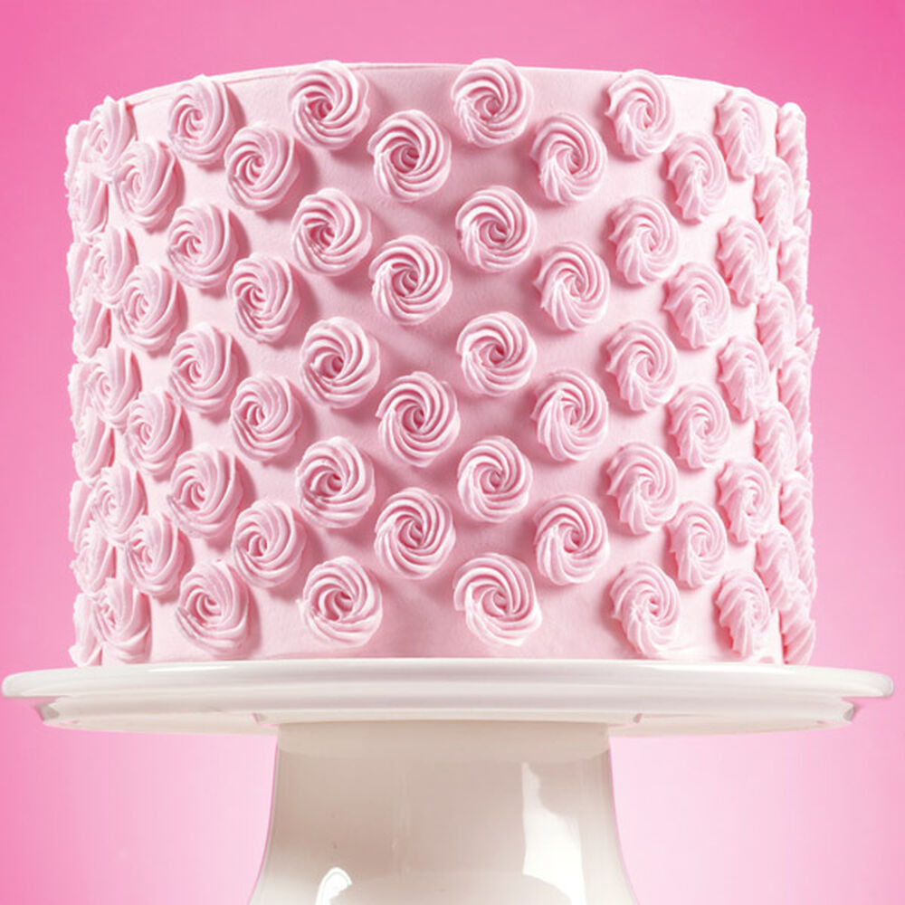 Cake Decorating How To Make Rosettes : Simplified Rosette Cake Wilton