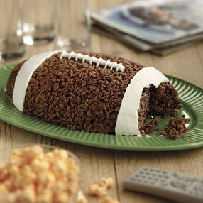 Football Cocoa Crisped Rice Cereal Treat