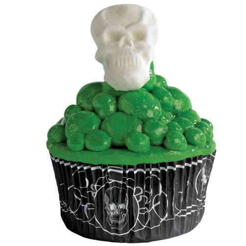 Skull Bubbling Cupcake