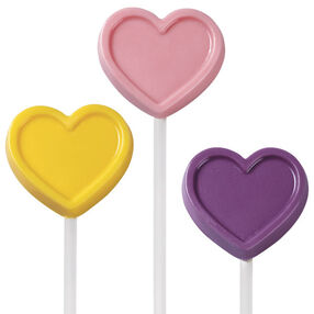 Conversation Heart Lollipops