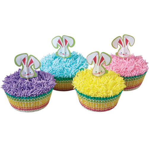 Pastel Cupcakes with Bunnies