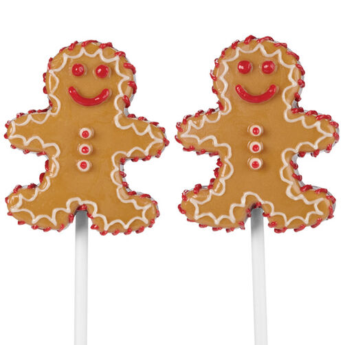 Jolly Gingerbread Boys Candy Pops