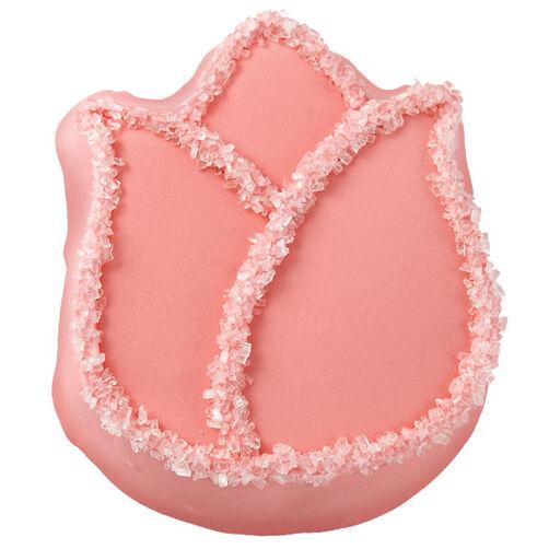 Pastel Pink Tulip Mini Cakes